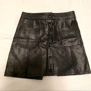 hm Leather skirt